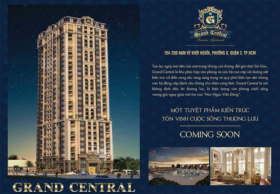 Dự án Căn Hộ Grand Central Quận 3