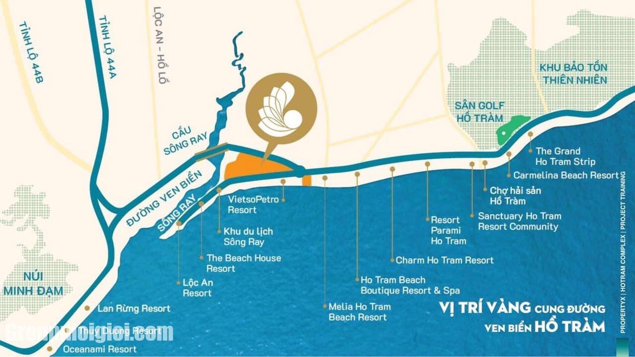 Vị trí Hồ Tràm Complex Hưng Thịnh