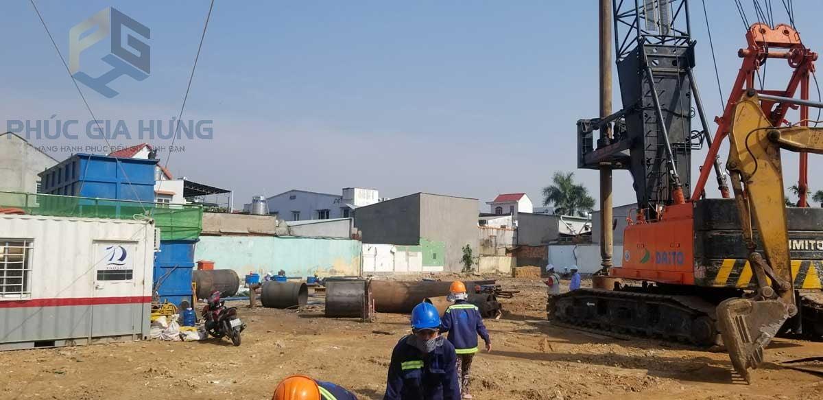 tiến độ thực tế dự án Phúc Đạt Tower