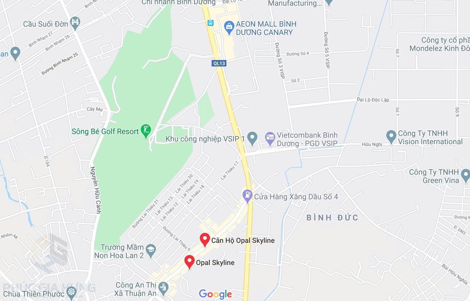 Vị trí Opal Skyline Thuận An